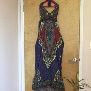 Akualani Boho Chic Maxi Dress size M 🌺